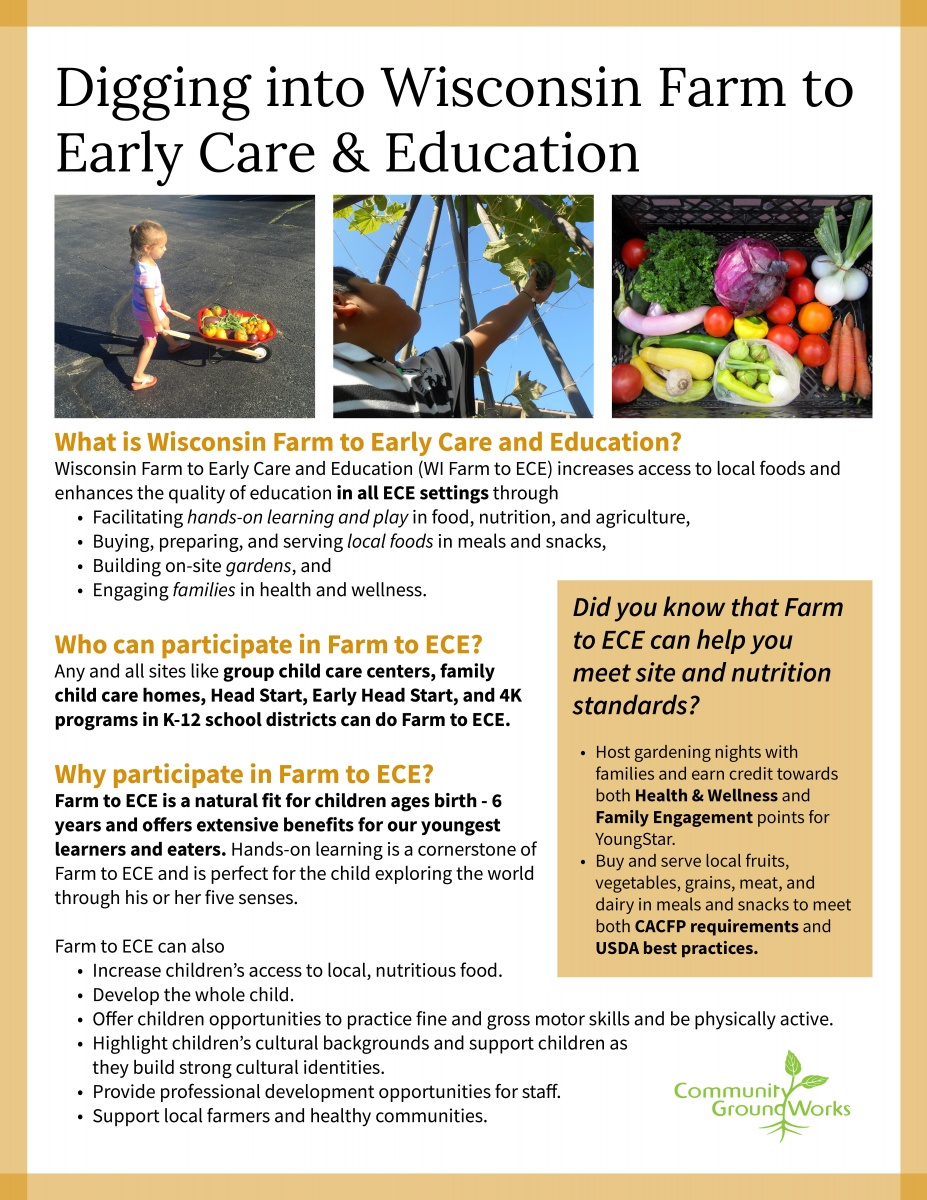 Digging into Wisconsin Farm to Early Care & Education