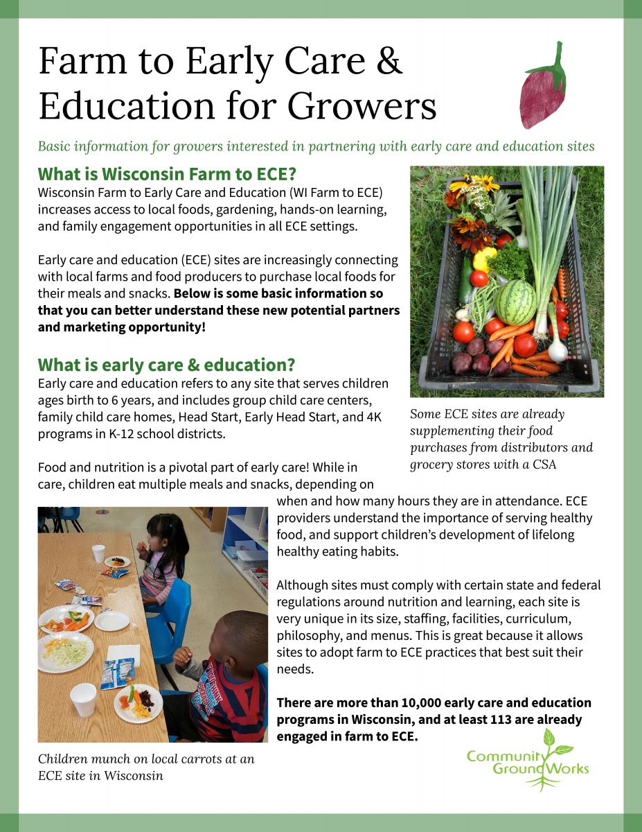 Farm to Early Care & Education for Growers